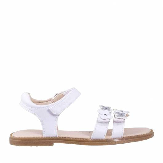GEOX - J SANDAL KARLY GIRL  SYNT.LEA -WHITE -