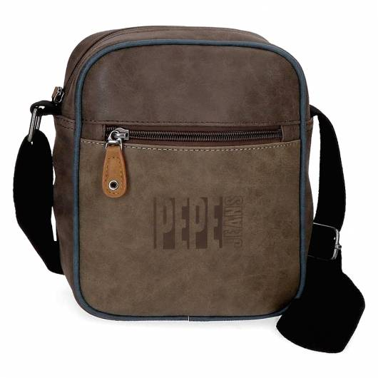 PEPE JEANS - SHOULDER BAG BANDOLERA 6355661 BROWN -