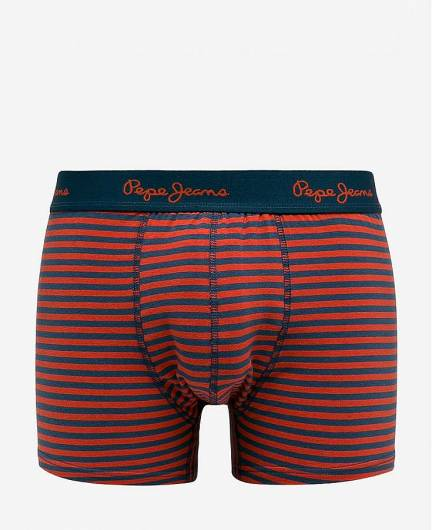 PEPE JEANS - Short Trunk AUDLEY PMU10418 2pk Ink Pillarbox Red Stripe Print -