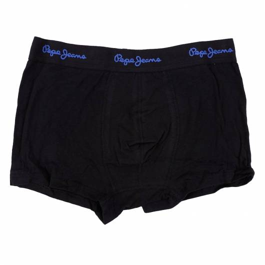PEPE JEANS - Short Trunk HAORD PMU10278 (996) 3pk Black with Tonal Blue Waistband -