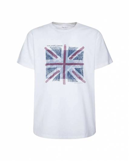 PEPE JEANS - T-SHIRT BRAD PM507452 (803) OFF WHITE