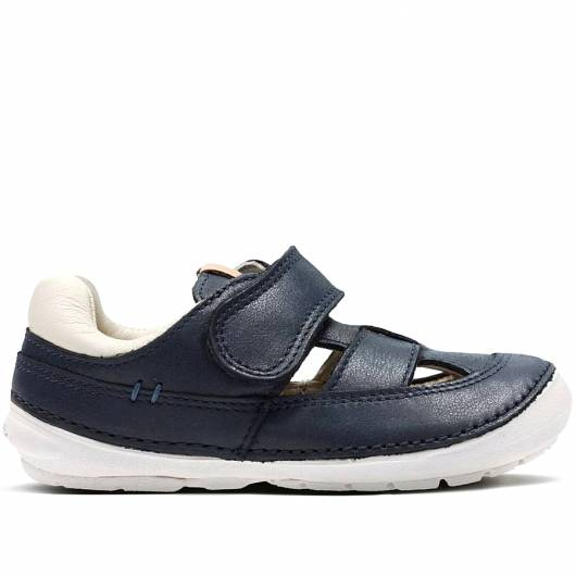 Clarks - Softly Ash - Navy Leather