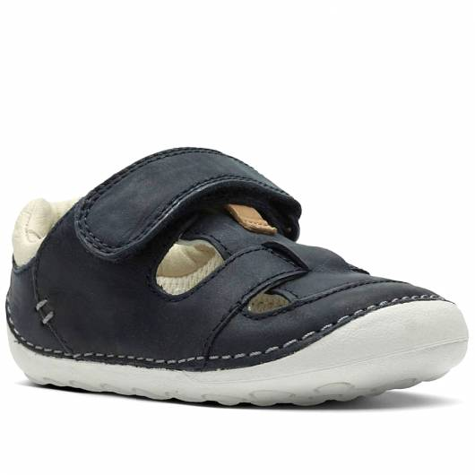 Clarks - Tiny Ash - Navy Leather