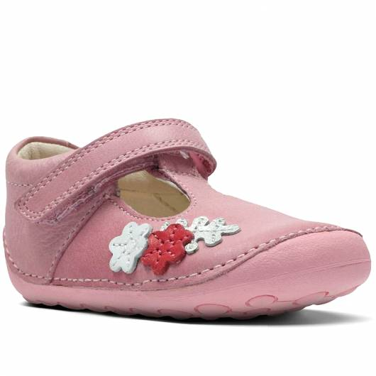 Clarks - Tiny Blossom - Baby Pink Leather