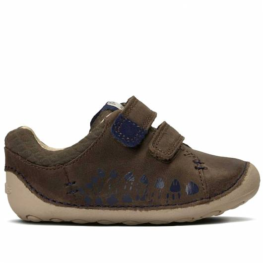 Clarks - Tiny Trail - Brown Leather