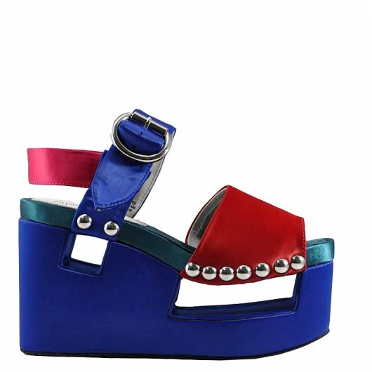 Jeffrey Campbell - BRANTA HIGH PLATAFORMS (RED-BLUE-FUCHSIA) -