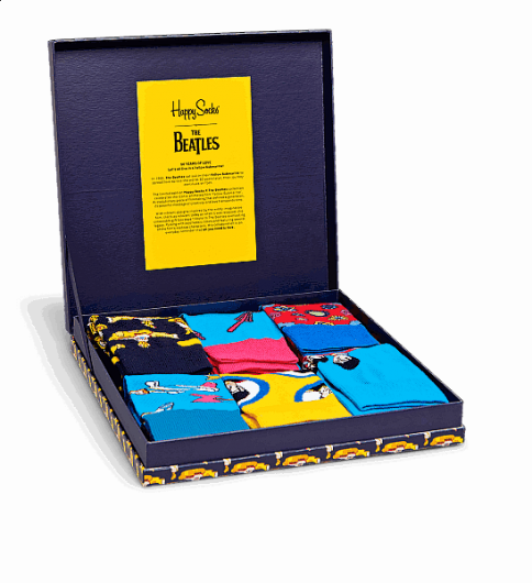 HAPPY SOCKS - THE BEATLES COLLECTOR BOX SET XBEA10-6000 -